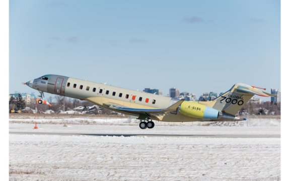 """""""The Masterpiece,"""" the last Bombardier Global 7000 FTV, Completes First Flight Successfully"""
