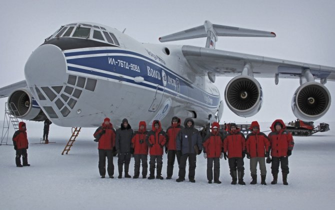 The Test Flight Program of the IL-76TD-90VD In Antarctica Continues