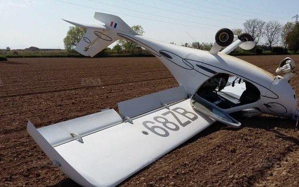The ULM flipped during landing, passengers unharmed