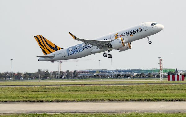 Tigerair Taiwan took delivery of first Airbus A320neo powered by Pratt & Whitney GTF engines