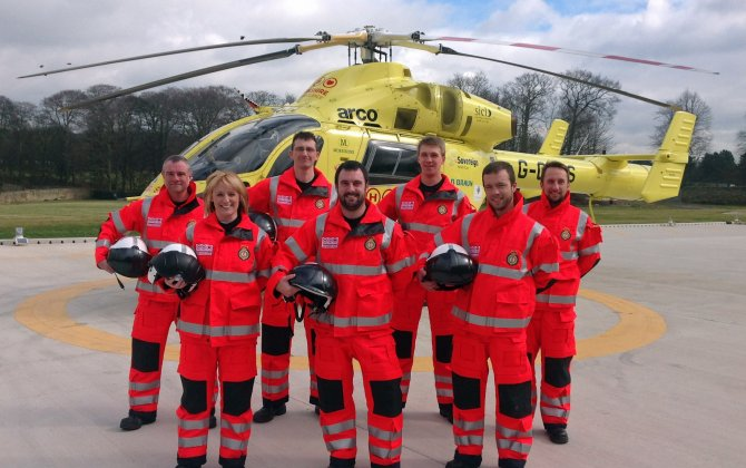 UK aviation minister attends handover of Airbus Helicopters H145 to Yorkshire Air Ambulance