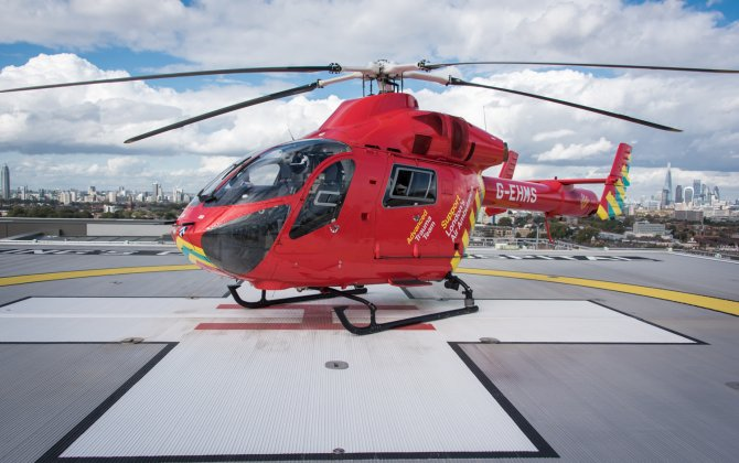 UK's first elevated rooftop helipad with Deck Integrated Fire Fighting System certified to UK CAA standards