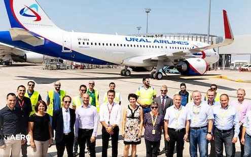 Ural Airlines Receives First of Three A320neo Aircraft from CDB Aviation