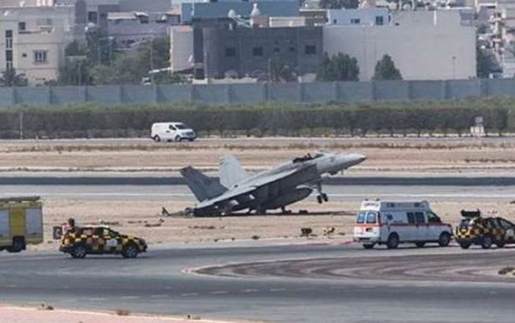 "US F-18 closes Bahrain Airport after ""uncomfortable"" landing"
