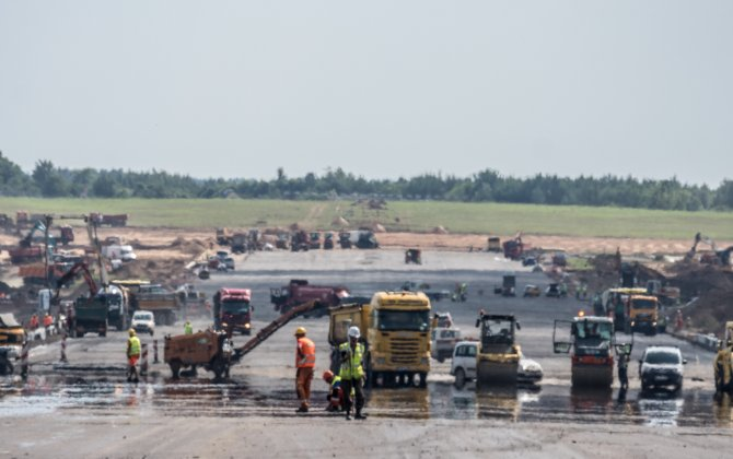 Vilnius Airport runway already has a new pavement, reconstruction will be finished on time