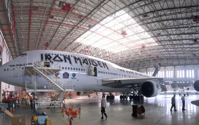 Volga-Dnepr Gulf welcomes back Iron Maiden Ed Force One