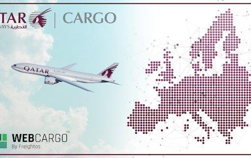 WebCargo by Freightos throughout the European region & Qatar Airways Cargo