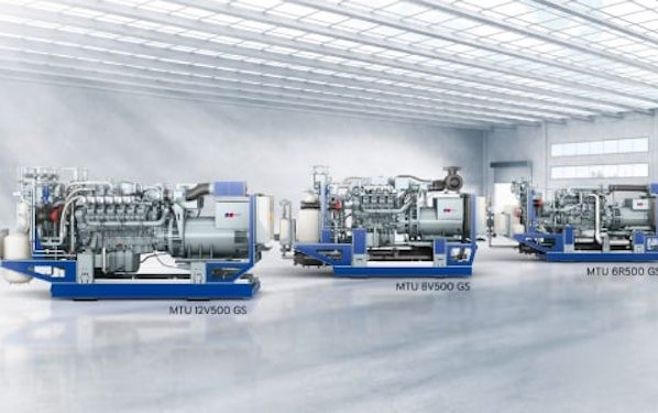 Welcome new MTU gas engine Series 500 for Power Generation