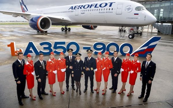 Welcome to the family - Aeroflot took delivery of its first A350-900