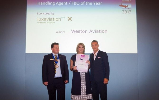 Weston Aviation - BACA Best FBO of the Year award for the Second Successive Year