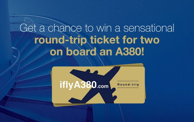 Win an A380 round-trip flight for two on iflyA380.com