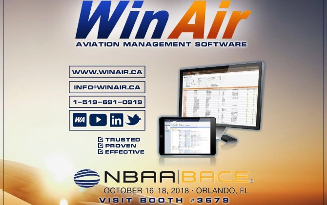 WinAir to Showcase Dashboards at NBAA 2018