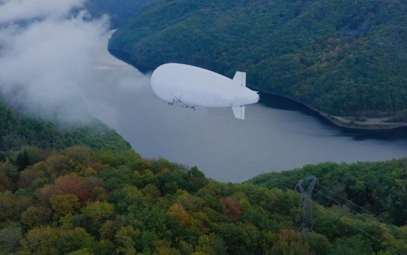 World first drone airship flight for automatic power line inspection
