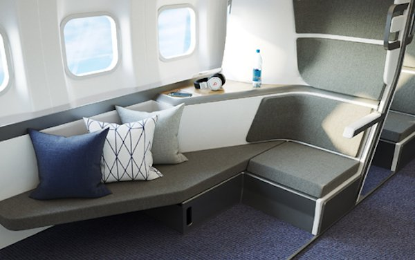 World first lie-flat airline seat for Economy Class to sleep and social distance