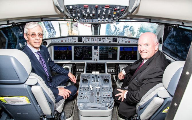World's First CAE-built Bombardier C Series Aircraft Full-flight Simulator