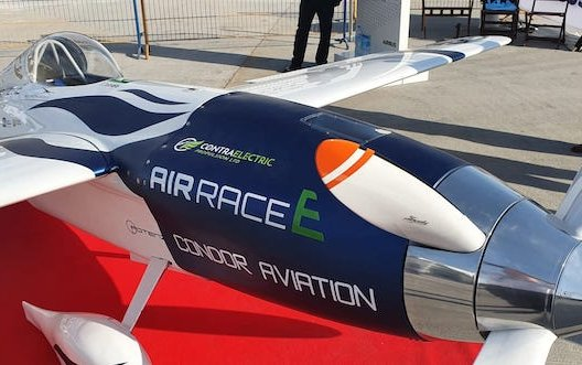 World's first electric race plane unveiled at Dubai Airshow