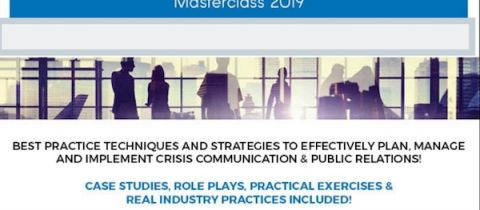 Air Transport Crisis Communication & Public Relations Masterclass 2019