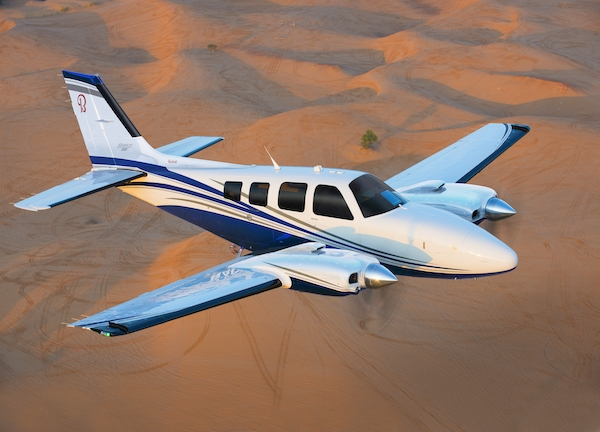 50th anniversary of the first flight of its Beechcraft Baron