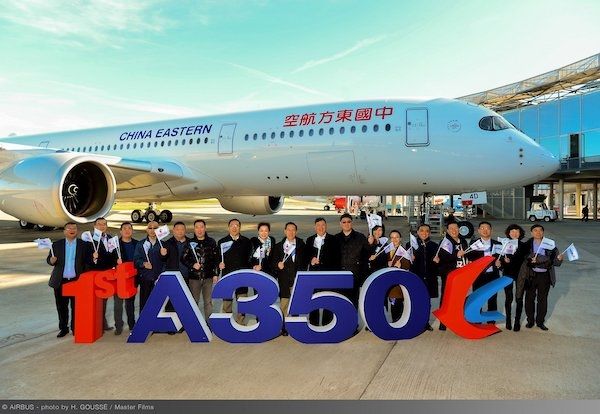 China Eastern Airlines takes delivery of its first Airbus
