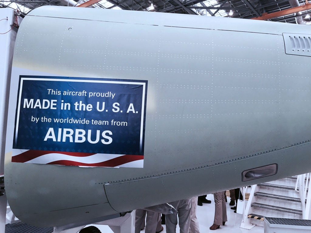 First Airbus Made In U S Rolls Out Of The Alabama Final Assembly Line The
