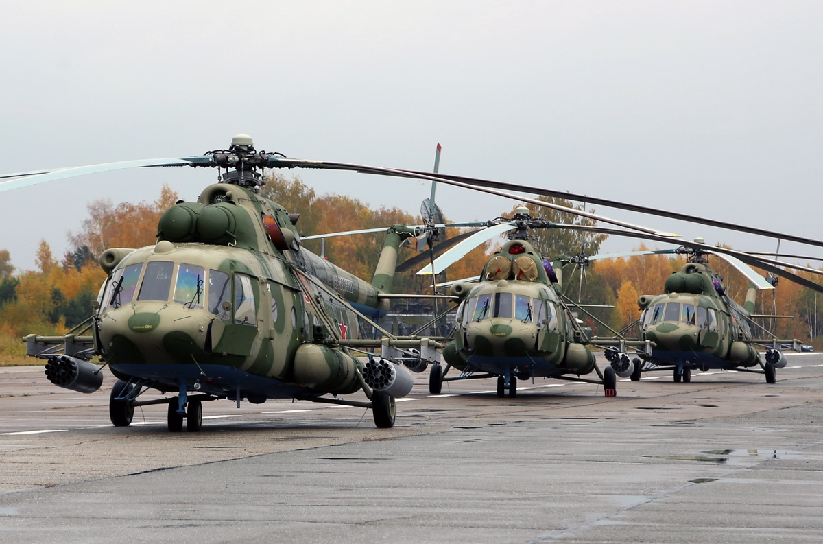 Elicottero Mi 8 : New mi helicopters demonstrated to belarus president