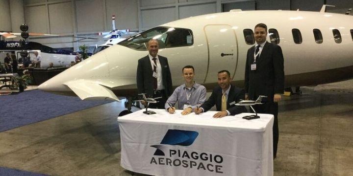 piaggio aerospace signs contract for the sale of 5 avanti evo in