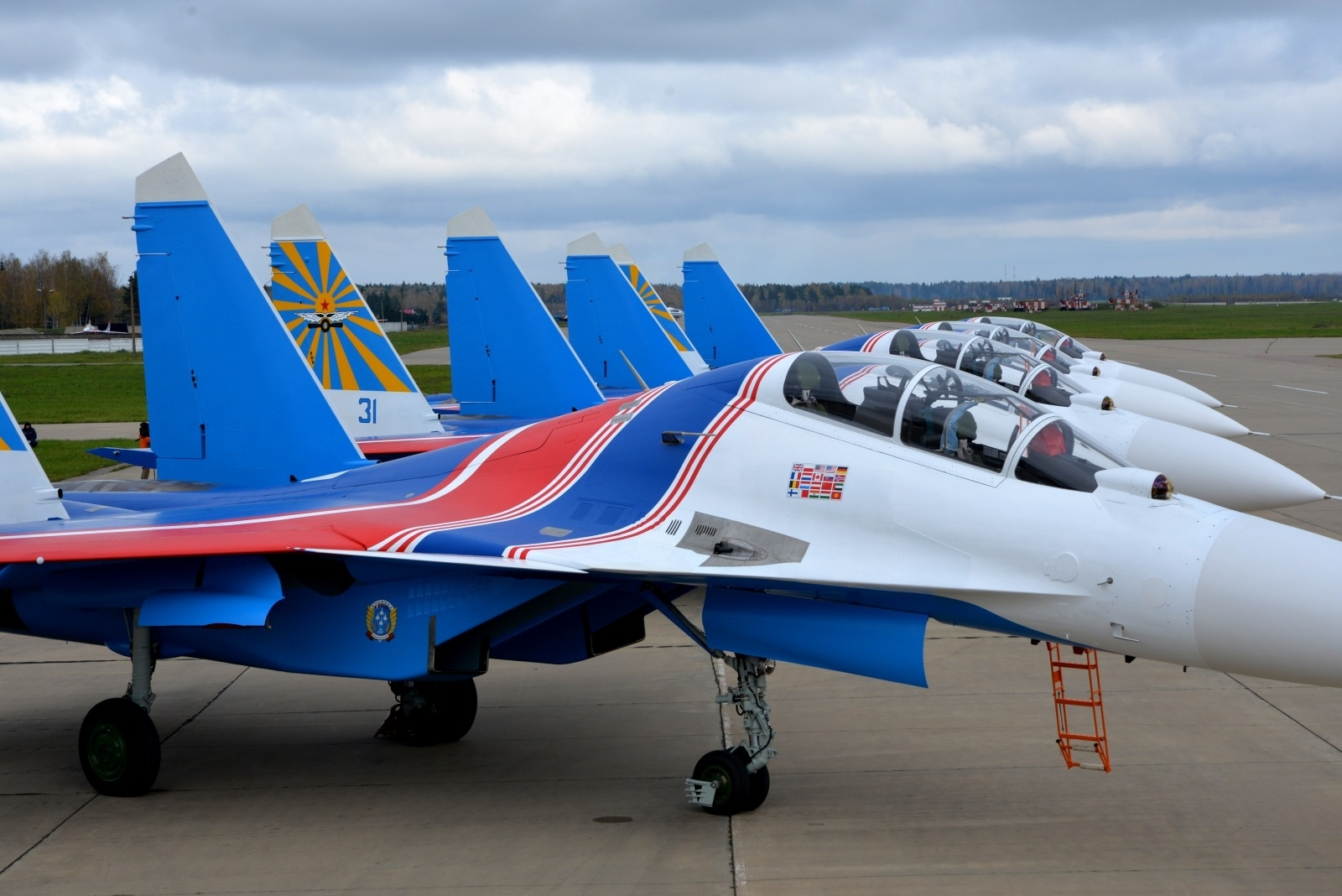 The first Su-30SM for Russian Knights 67