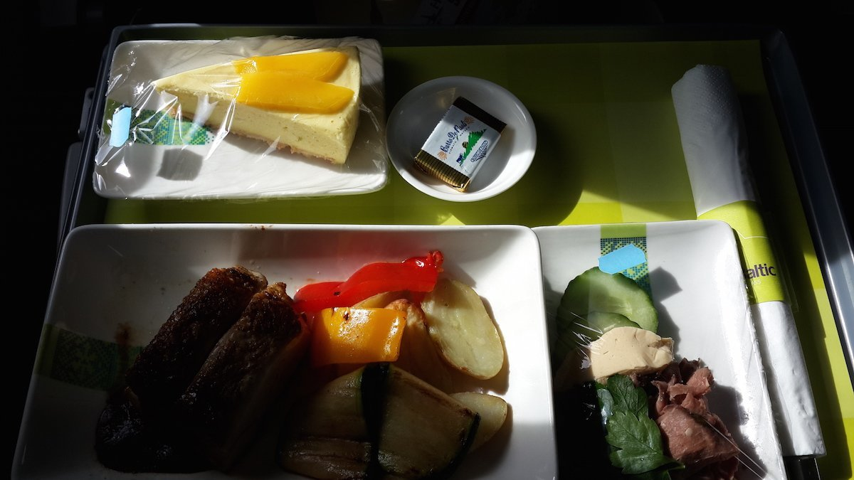 Great choice of meals on Airbaltic